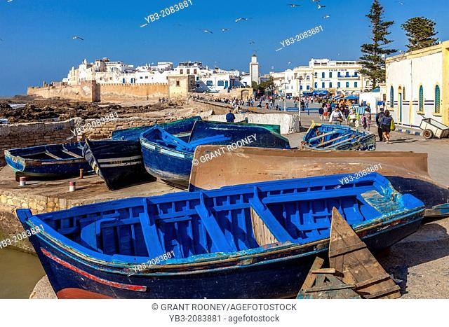 The Port and Town of Essaouira, Morocco