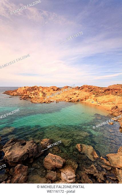 Spain, Balearic Islands, Menorca, Cala Pregonda