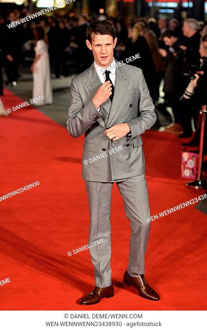 European Premiere of Pride And Prejudice And Zombies held at the Vue West End - Arrivals. Featuring: Matt Smith Where: London