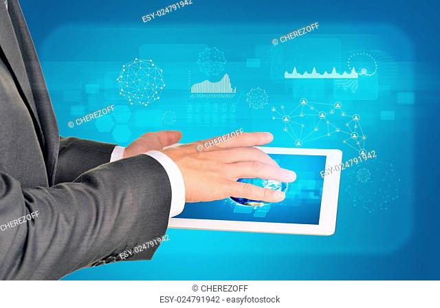 Hi Tech Graphs As Backdrop Stock Photos And Images Age