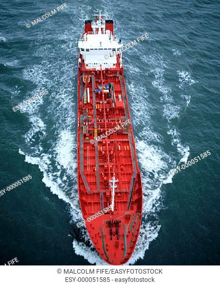 Tanker. Firth of Forth. Scotland