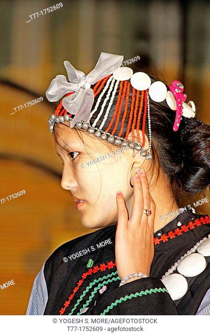 Yobin tribes at Namdapha Eco Cultural Festival, Miao, Arunachal Pradesh, India