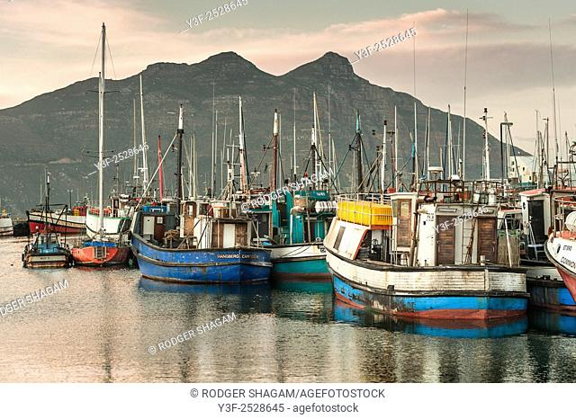 Sunrise over HoutBay fishing harbour