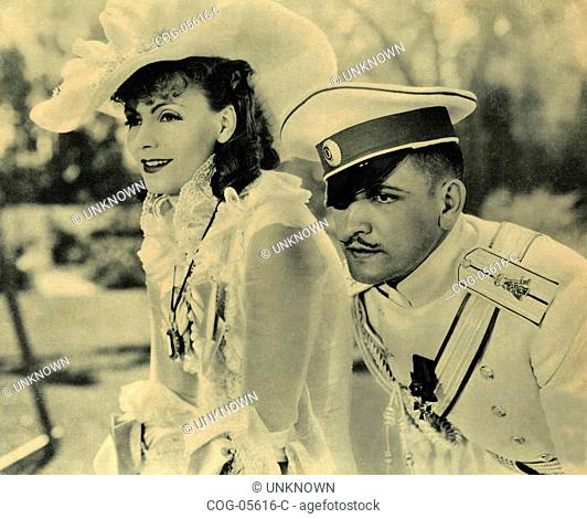 The Swedish actress Greta Garbo and Frederic March in the film Anna Karenina, USA