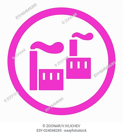 Industry flat violet color rounded glyph icon