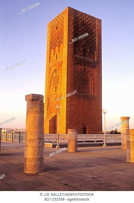 Tower of Hassan, 12th century. Rabat. Morocco