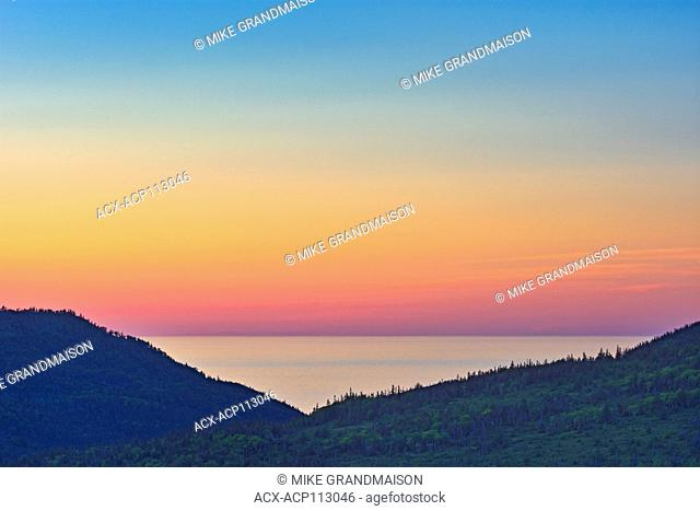 Gulf of St. Lawrence at dusk, Trout River, Newfoundland & Labrador, Canada