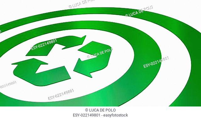 target with recycling symbol