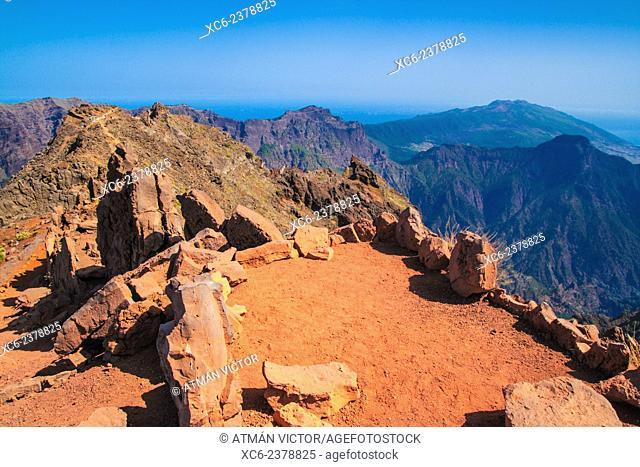 Roque de Los Muchachos . La Palma island . Canary islands . Spain