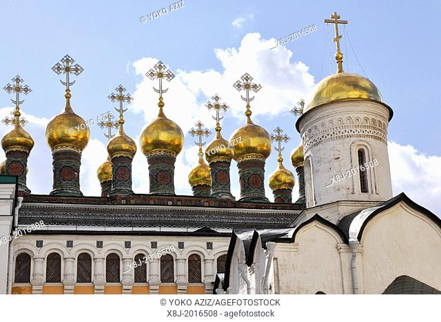 Russia, Moscow, Kremlin complex, Cathedral of the Annunciation,
