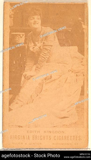 Edith Kingdon, from the Actors and Actresses series (N45, Type 1) for Virginia Brights Cigarettes. Publisher: Issued by Allen & Ginter (American, Richmond