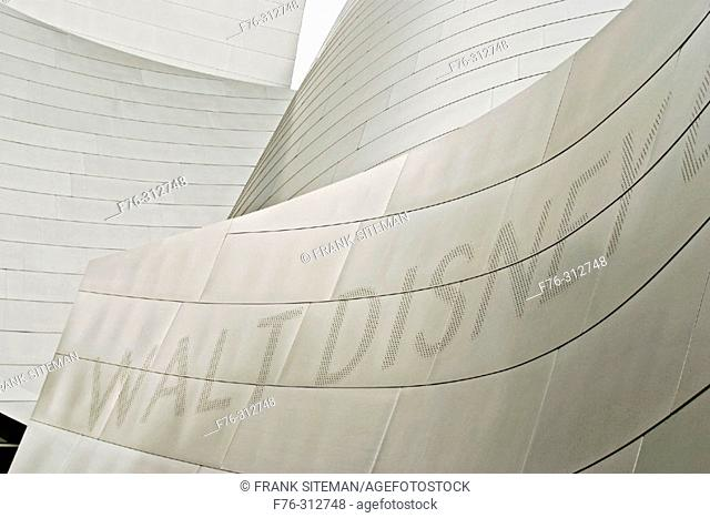 Walt Disney Concert Hall (1987-2003) by Frank Gehry. Los Angeles. USA