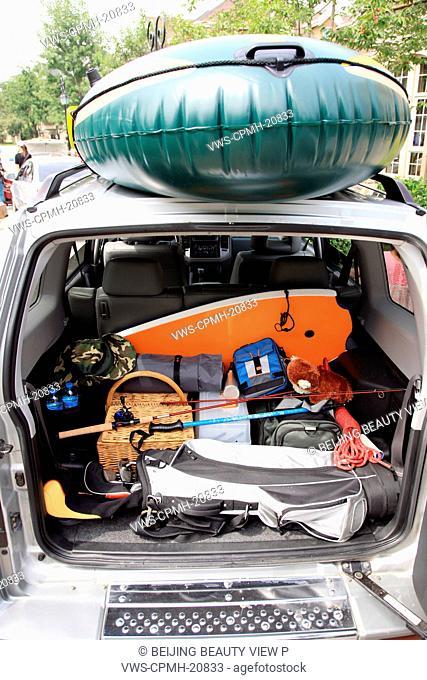 interior of a car trunk