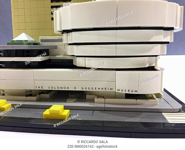 The Solomon R. Guggenheim Museum, made of Lego bricks. . .