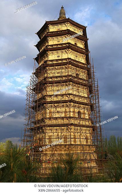 White pagoda (1162), near Hohhot, Inner Mongolia, China