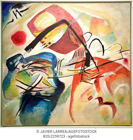 Mit dem schwarzen Bogen, 1912. Vassily Kandinsky. Centre George Pompidou. Musee National d'Art Moderne. Paris. France