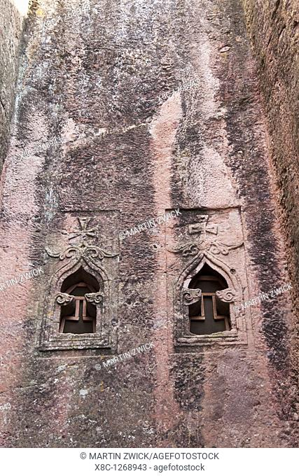 The rock-hewn churches of Lalibela in Ethiopia  The twin churches of Bet Golgotha and Bet Mikael  Facade of Bet Golgotha  The churches of Lalibela have been...