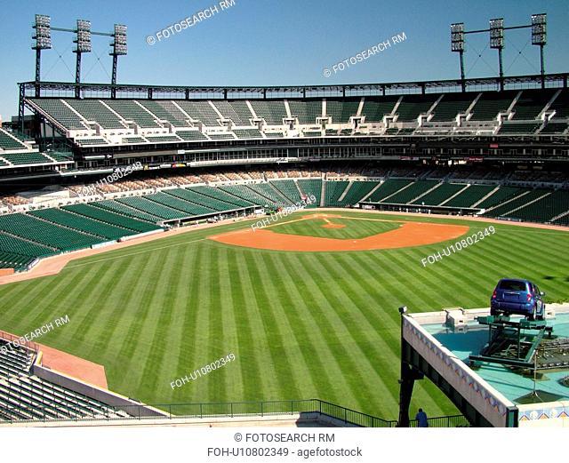 Detroit, MI, Michigan, Motor City, Comerica Park, Stadium, Detroit Tigers, MLB, Baseball, field