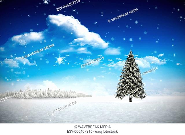 Composite image of snow