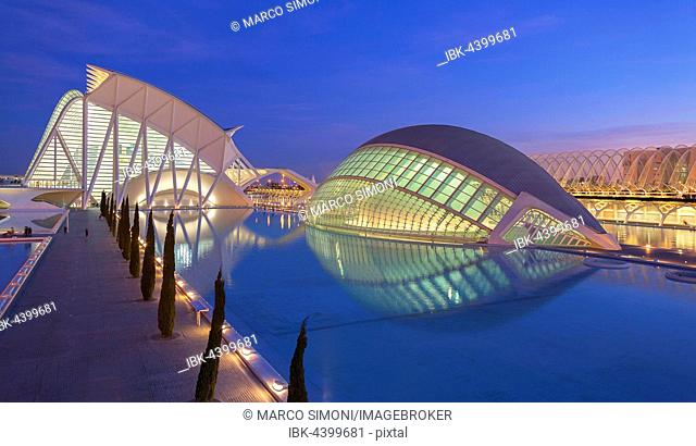City of Arts and Sciences, Valencia, Comunidad Autonoma de Valencia, Spain