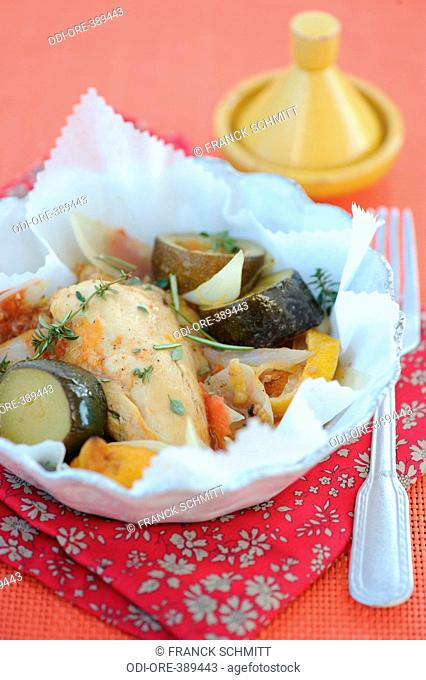 Chicken with moroccan spices