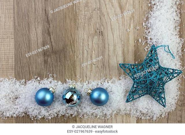 Weihnachtsdekoration blau
