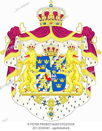 National coat of arms of Sweden
