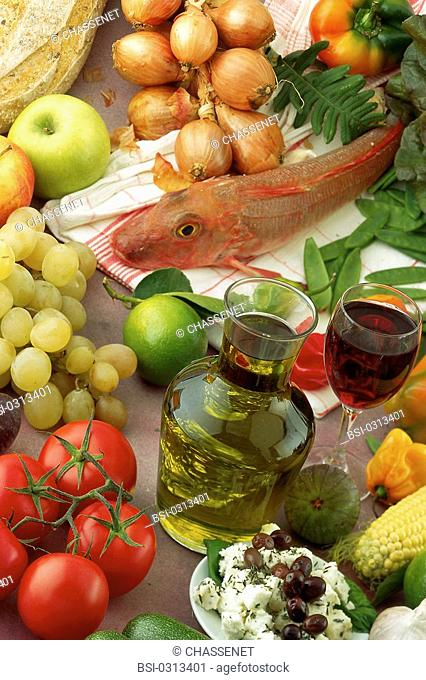 MEDITERRANEAN DIET<BR>Menu from Crete, based on olive oil