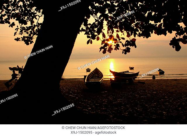 Scenic View of Sun Rise, Teluk Melano, Sarawak, Borneo