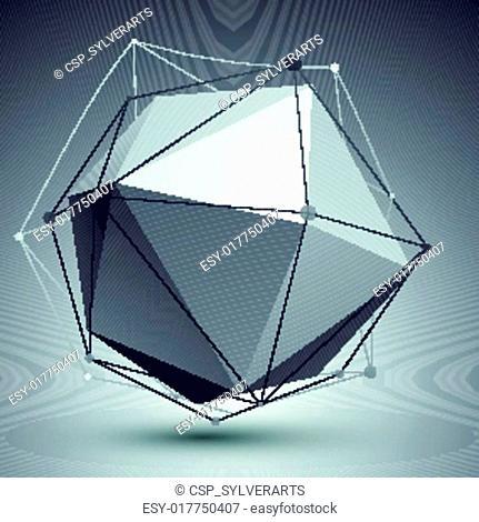 3D vector abstract tech object