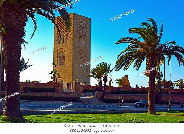 Hassan Tower at Sidi Makhlouf Place, Rabat, Morocco
