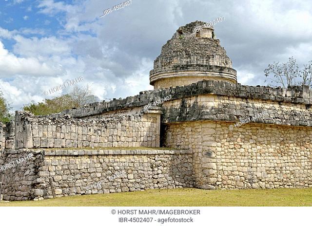 El Caracol, observatory, historic Mayan city of Chichen Itza, Piste, Yucatan, Mexico