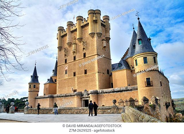 Tower and Gate of Juan II, Alcázar Castle, Segovia, Castile and Leon, Spain