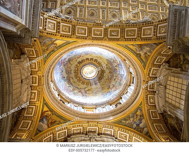 St. Peter's Basilica has the largest interior of any Christian church in the world