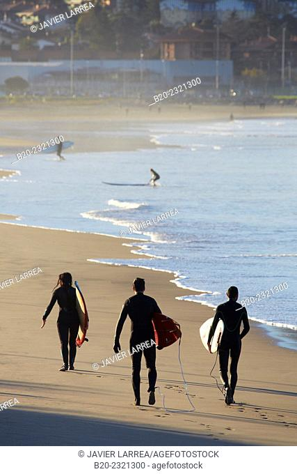 Surf. Beach. Hendaye. Aquitaine. Pyrenees Atlantiques. France