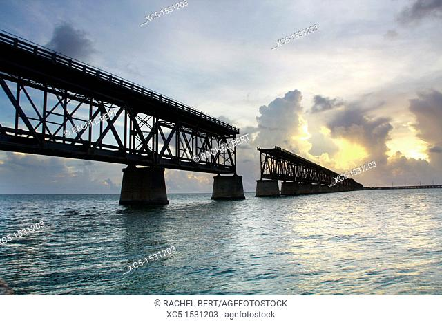 Overseas Railway, Bahia Honda Rail Bridge, Florida, Usa