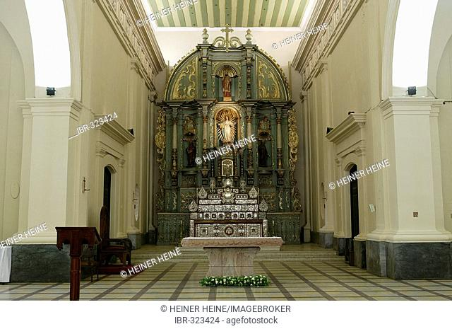 Altar in the cathedral, Acuncion, Paraguay, South America