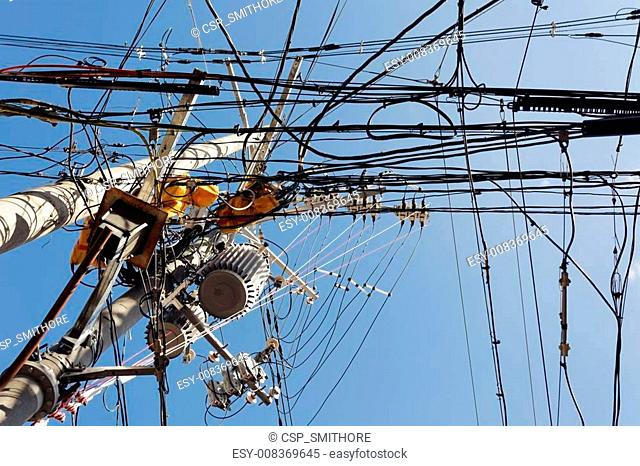 messy electric cables
