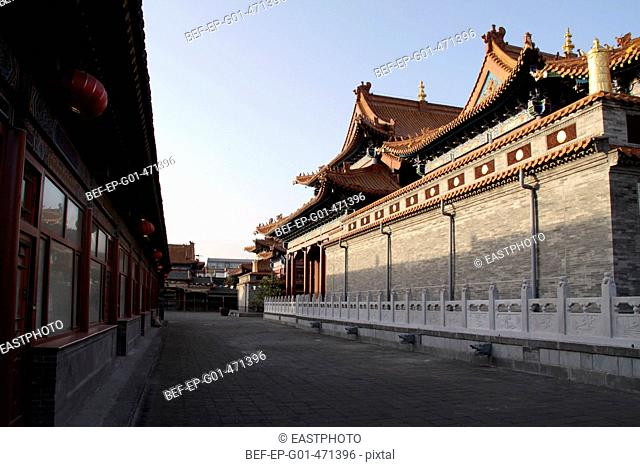 the Jokhang Temple under the setting sun