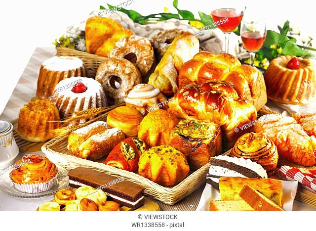 A variety of breads