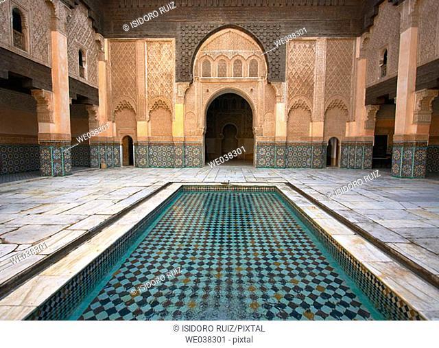Bin Yousuf Madrassa (c. 1565), Marrakesh. Morocco