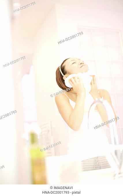 Girl Washing Face