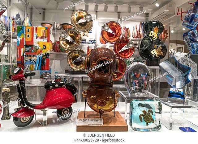 Murano Glass Shop , Venedig, Venezia, Venice, Veneto, Italy, Italia, Europe