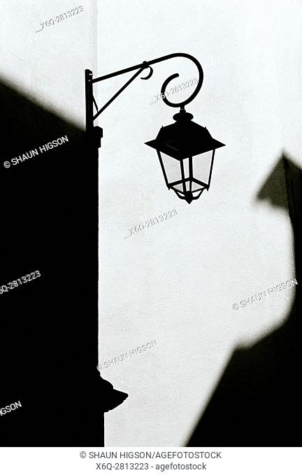 A light in chiaroscuro in Aix en Provence in Provence Alpes Cote d'Azur in France in Europe
