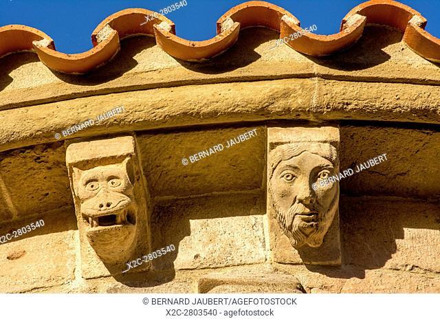 Brioude. Saint Julien church. Sculptures. Haute-Loire. Auvergne. France