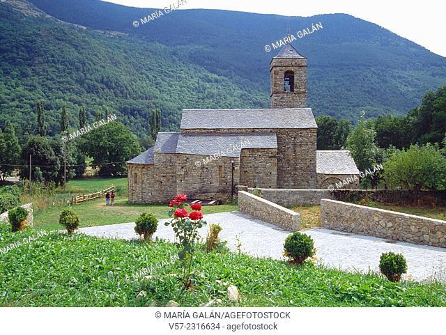 San Feliu church. Barruera, Boi valley, Lerida province, Catalonia, Spain