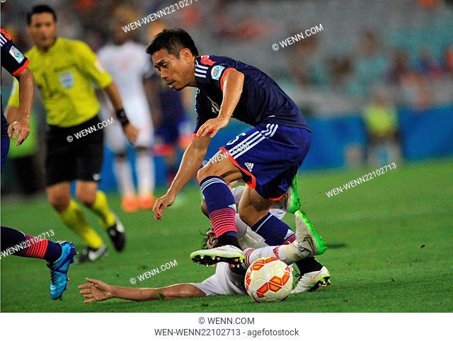 The United Arab Emirites has beaten Japan in the quarter finals of the Asian Football Championship Featuring: Yuto Nagatomo Where: Sydney