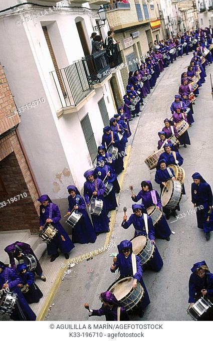 'Tamborrada', Holy Week. Calanda. Teruel province. Spain