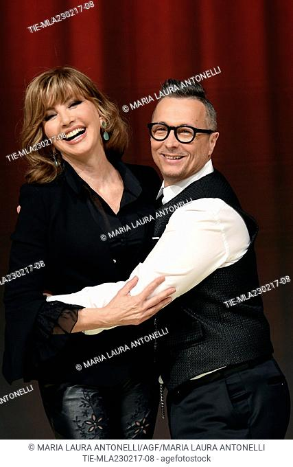 The conductor Milly Carlucci and Paolo Belli during the photo call of talent show ' Ballando con le stelle ' Rome, ITALY-23-02-2017