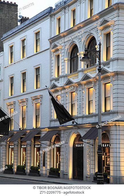 UK, England, London, Old Bond Street, luxury shop,
